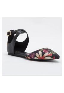 Sapatilha Black Floral Cs Club Estampado