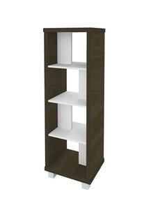 Estante Livreiro Multiuso Decorativa Flex Charuto/Branco - Artany