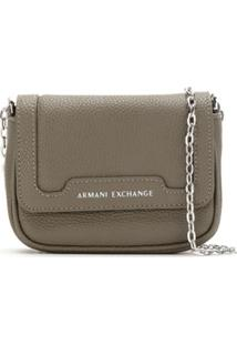 0b9fa6116 ... Armani Exchange Bolsa Tiracolo Com Logo - Marrom