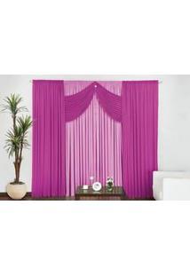 Cortina Império Quarto E Sala 4,00M X 2,50M Pink Rosa