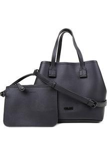 Bolsa Colcci Tote Shopper Com Necessaire Feminina - Feminino-Preto