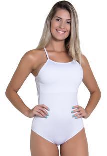 Body Kaisan Liso Com Alça Cruzada Branco