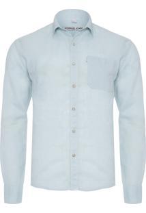 Camisa Masculina Linen - Azul