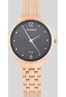 Relógio Analógico Mondaine Feminino - 53718Lpmgre2 Dourado - Único