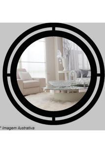 Espelho Círculo- Espelhado & Preto- Ø29,5X5Cm- Ccia Laser
