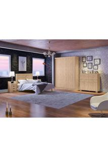 Dormitório Casal Nicolly Cedro Madeirado Robel Móveis
