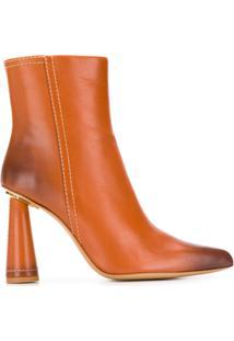 Jacquemus Ankle Boot Com Salto Cone - Marrom