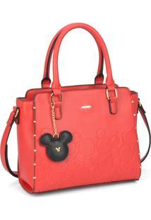 Bolsa De Mão Luxcel Mickey Mouse Vermelha