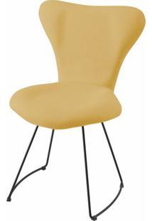 Cadeira Jacobsen Series 7 Ocre Com Base Curve Preta - 49619 Sun House