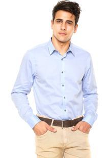 Camisa Richards Slim Azul