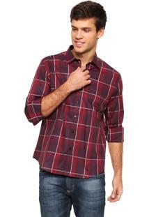 Camisa Aramis Manga Longa Super Slim Xadrez Vermelha