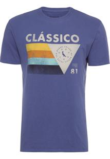 Camiseta Masculina Geométrico Clássico - Azul