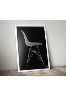 Pôster Cadeira Eames Dsr - Preto