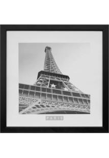 Quadro Torre Eiffel Kapos Preto 33X33Cm