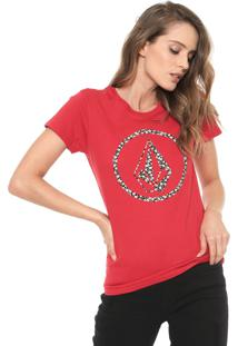 Camiseta Volcom Daisy For You Vermelha