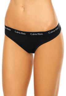 Calcinha Calvin Klein Underwear Tanga Preta