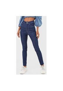 Calça Jeans Malwee Skinny Pespontos Azul