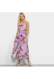 Vestido Farm Longo Cropped Purpura E - Feminino-Estampado