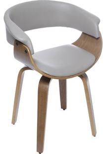 Cadeira Barcelona- Fendi & Madeira Escura- 78X60X40Cor Design
