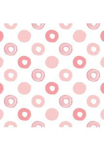 Papel De Parede Quartinhos Adesivo Infantil Bolinhas Em Rosa 2,70X0,57M - Tricae