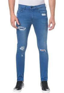 Calça Jeans Five Pocktes Skinny Ckj 016 Skinny - Azul Royal - 46