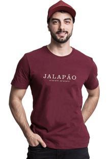 Camiseta Destinos Jalapão Quatorze 08 Bordô
