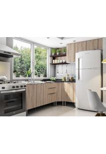 Cozinha Compacta 6 Portas Essence Desira/Branco/Trufa - Aroma