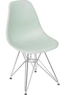 Cadeira Com Base Cromada 1102-Or Design - Verde Claro