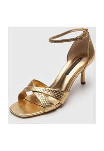 Sandália Jorge Bischoff Metalizado Dourada