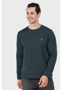 Camiseta Térmica Para Frio Manga Longa Com Proteção Solar Extreme Uv - Masculino-Chumbo