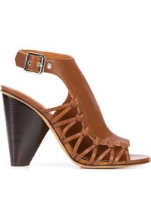 Derek Lam Ankle Boot Com Recortes - Brown