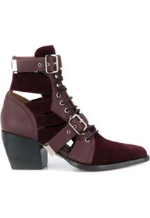 Chloé Ankle Boot Rylee - Roxo
