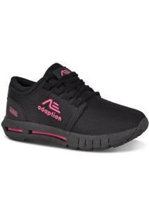 Tênis Adaption Ax-900 Feminino - Feminino-Preto+Pink