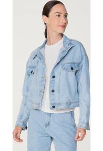 Jaqueta Jeans Feminina Em Algodão