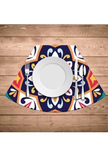 Jogo Americano Para Mesa Redonda Wevans Mandala Colorida