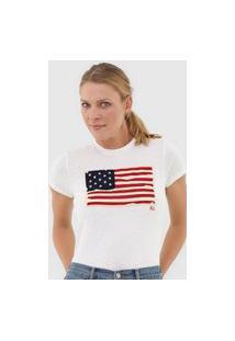 Camiseta Polo Ralph Lauren Bandeira Off-White