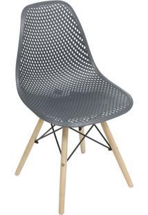 Cadeira Eames Colmeia- Preta & Marrom Claro- 82,5X46Or Design