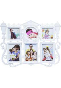 Porta Retrato Minas De Presentes Lâmpada Rua Antiga 6 Fotos Branco