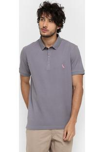 Camisa Polo Reserva Piquet Poá Color Bordado - Masculino