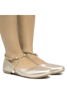 Sapatilha Zariff Shoes Casual Pedras Feminina - Feminino-Prata