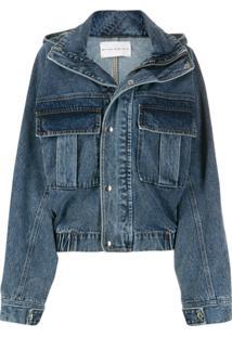 Matthew Adams Dolan Oversized Hooded Denim Jacket - Azul