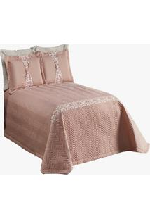 Cobre Leito London Matelado Casal Queen 7 Peã§As Ros㪠- Multicolorido - Dafiti