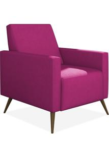 Poltrona Decorativa Para Sala De Estar Pés Palito Liz Suede Pink - Lyam Decor