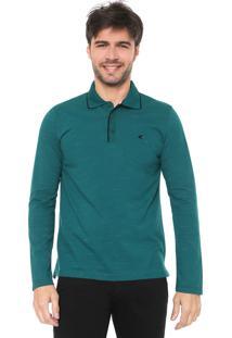 Camisa Polo Malwee Reta Logo Verde