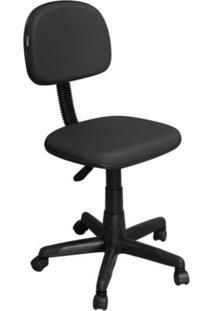 Cadeira De Escritório Pethiflex Cs-02 Secretária Giratória Preta