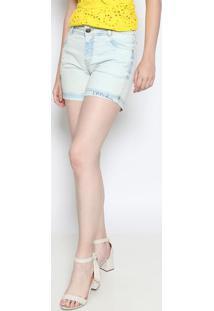 Bermuda Jeans Délavé- Azul Clarodimy