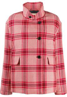 Marni Checked Single-Breasted Coat - Vermelho