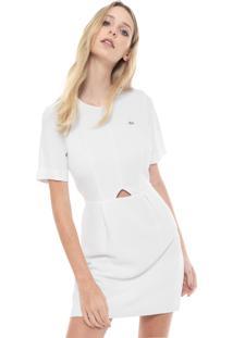 dd406fefe109b ... Vestido Lacoste Curto Logo Branco
