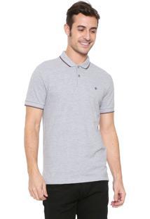 Camisa Polo Forum Reta Listras Cinza
