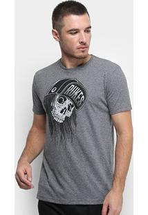 Camiseta Rukes Skull Cap Masculina - Masculino-Mescla Escuro